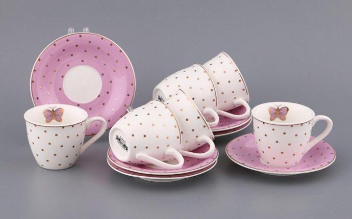 Кофейный набор на 6 персон 12 пр.100 мл. Porcelain Manufacturing