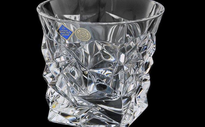 Набор стаканов для виски Glacier голд, 6 шт, хрусталь, Bohemia
