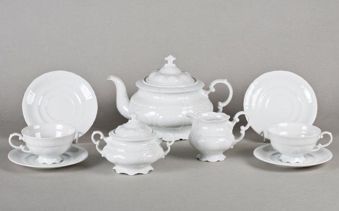Набор тарелок Соната Белый фарфор 18 предметов - интернет