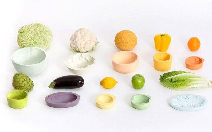 Оригинальная посуда в виде овощей и листьев
