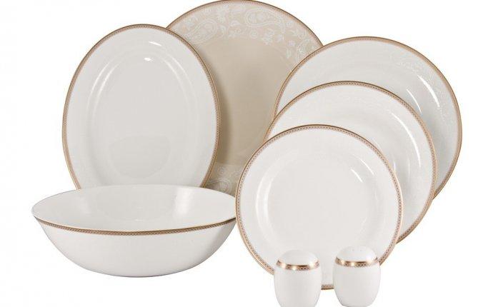 Посуда из костяного фарфора - чашки, тарелки, блюдца